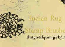 古朴的印度印花、花纹图案PS笔刷