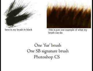 简单手绘毛发笔触Photoshop笔刷下载