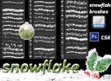 真实圣诞节雪花、雪片Photoshop雪笔刷