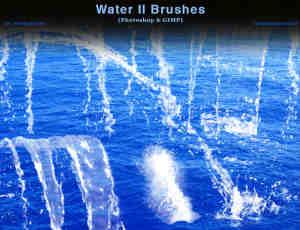 水流、水花Photoshop笔刷素材下载