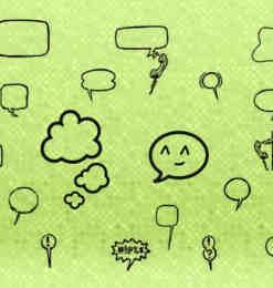 气泡框、对话框涂鸦PS笔刷-涂鸦笔刷 第 6 页