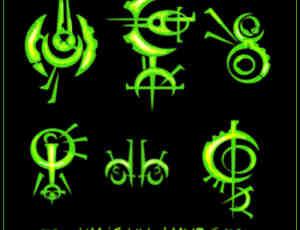 奇异宗教符文、神秘符号Photoshop笔刷素材