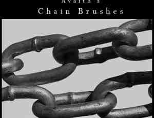 真实铁链、锁链Photoshop笔刷素材