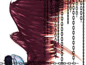 长条铁链、锁链、链条Photoshop笔刷素材