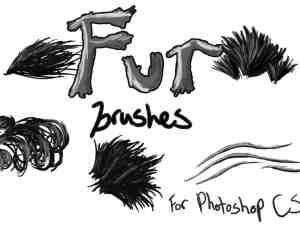 Photoshop CS2 皮毛笔触、毛发画笔PS笔刷素材下载