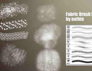 2个编织物纹理、棉布印花图案Photoshop笔刷打包下载