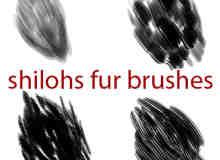 4种毛发纹理样式Photoshop笔刷素材