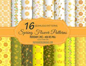 16种漂亮的花纹图案Photoshop填充素材下载
