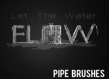 管道、水管、气管PS笔刷素材下载
