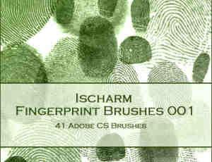 真实的手指指纹Photoshop笔刷素材下载
