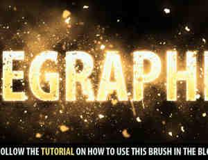 免费尘埃粒子Photoshop笔刷素材