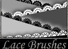 矢量蕾丝花纹图案Photoshop笔刷素材