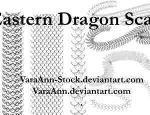 多种鳞片、蛇鳞、鳞甲、龙鳞皮肤纹理Photoshop笔刷下载