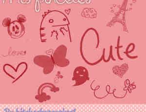 小可爱童趣涂鸦Photoshop美图笔刷