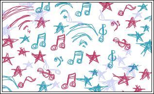 手绘涂鸦音符、星星PS照片装饰笔刷