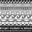 7种经典边框花纹图案PS笔刷下载