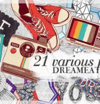 青春时代卡通贴纸之美图秀秀照片装扮素材下载