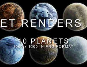 10种不同效果的星球PS笔刷素材(PNG透明格式)#.2