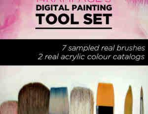 高级数字油漆、刷子工具套装Photoshop笔刷素材下载