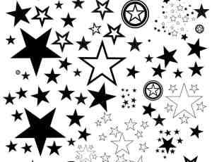 五角星、星星图案PS笔刷下载
