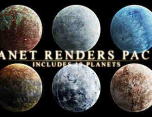 10种不同效果的星球PS笔刷素材(PNG透明格式)#.1