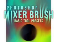 颜色混合Photoshop工具预设.tpl笔刷素材包下载