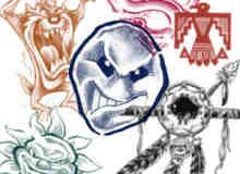 奇艺纹身PS笔刷素材下载
