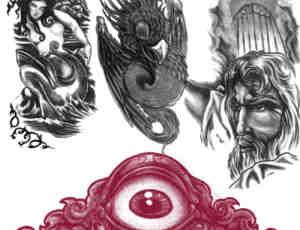 欧美神话刺青、纹身PS笔刷下载