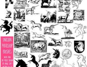 天马、独角兽图案PS笔刷下载