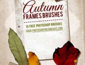 信纸、树叶Photoshop笔刷下载