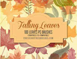 100+树叶、叶子图形Photoshop笔刷下载