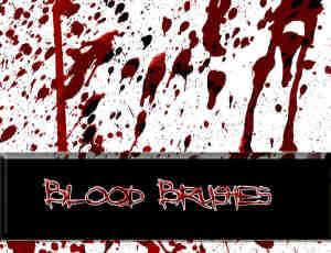 恐怖的血液喷溅、滴溅效果PS笔刷素材
