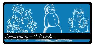 卡通圣诞节雪人Photoshop笔刷下载