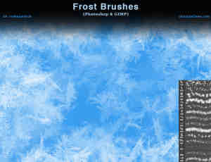 圣诞节冰晶装饰、过年窗花纹理Photoshop霜冻笔刷