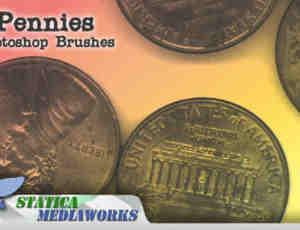 欧美硬币Photoshop笔刷下载