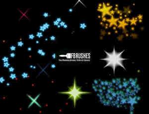小星星、星光、星星图案PS笔刷下载