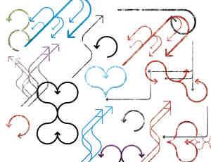 可爱漂亮的复古式箭头标记PS笔刷下载