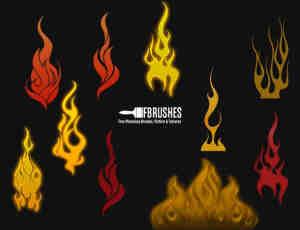 卡通火焰纹饰图案PS火焰纹章笔刷