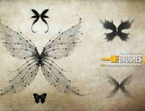 精灵仙子翅膀、妖精翅膀Photoshop梦幻翅膀笔刷