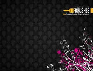 漂亮的优美植物线条花纹图案Photoshop笔刷下载