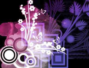 日本花卉图案PS笔刷下载