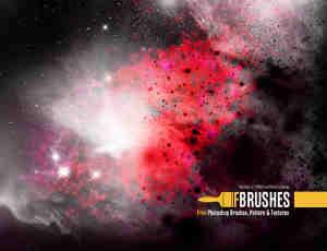 浩瀚宇宙星空、梦幻银河系Photoshop笔刷素材下载