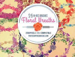 26种漂亮的花环、花圈PS笔刷下载
