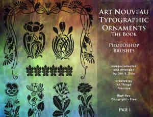 漂亮的欧式植物花纹艺术纹理PS笔刷下载