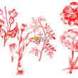 复古式植物鲜花图案、版刻花纹PS笔刷下载