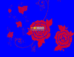 玫瑰花纹图案Photoshop印花笔刷下载