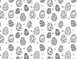 卡哇伊复活节彩蛋涂鸦、卡通复活蛋Photoshop笔刷下载