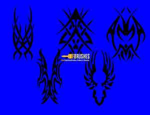 酷炫部落徽章、神秘纹饰图案PS笔刷下载