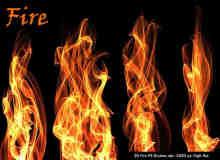20种免费的火焰、火苗、火光特效Photoshop笔刷下载