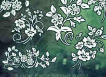 漂亮高贵的艺术植物花纹Photoshop印花笔刷下载